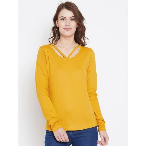 The Dry State Casual Full Sleeve Solid Women Yellow Top