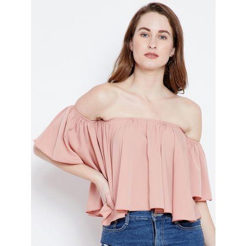 Berrylush Casual No Sleeve Solid Women Pink Top