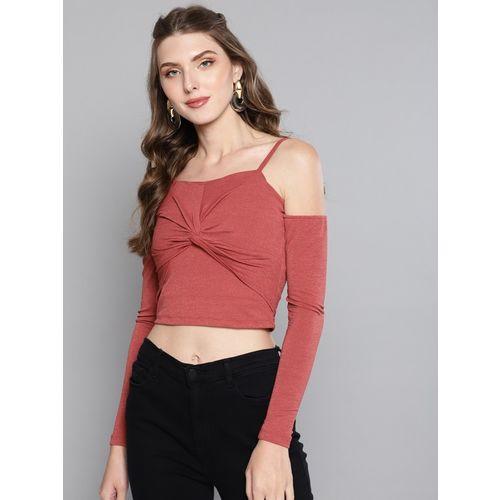 Veni Vidi Vici Casual Full Sleeve Solid Women Red Top