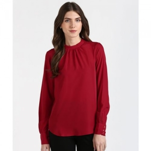 Provogue Casual Full Sleeve Solid Women Red Top
