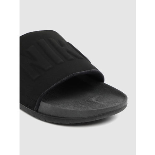 Nike Men Black Textured Sliders