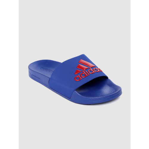 ADIDAS Men Blue & Red ADILETTE Shower Printed Sliders