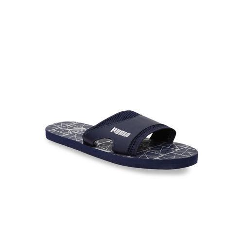 Puma Unisex Navy Blue Printed Thong Flip-Flops
