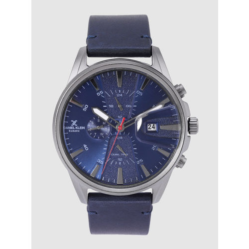 Daniel Klein Exclusive Men Navy Blue Dual Time Analogue Watch DK12238-3