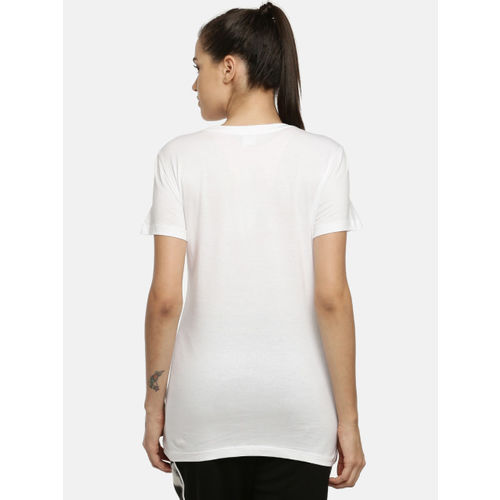 Puma Women White Printed Cloud Pack Regular Fit Graphic Round Neck T-shirt