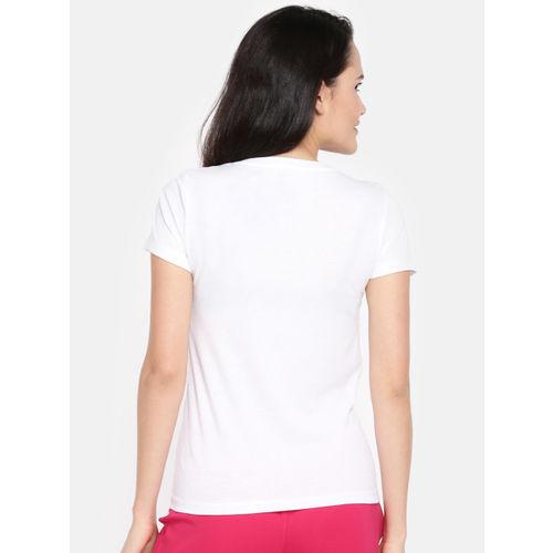 Dollar Missy Women Red & White Set Of 2 Printed V-Neck T-shirt