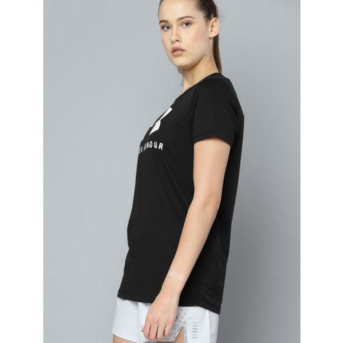 UNDER ARMOUR Women Black Sportstyle Classic Crew Graphic Print Round Neck T-shirt