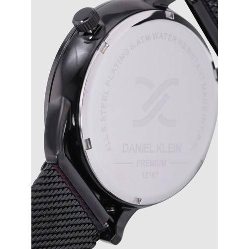 Daniel Klein Premium Men Gunmetal-Toned Analogue Watch DK12167-5