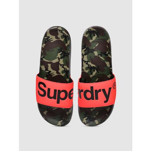 Superdry Men Multicoloured Printed Sliders