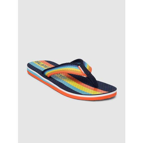 Superdry Men Multicoloured Striped Thong Flip-Flops