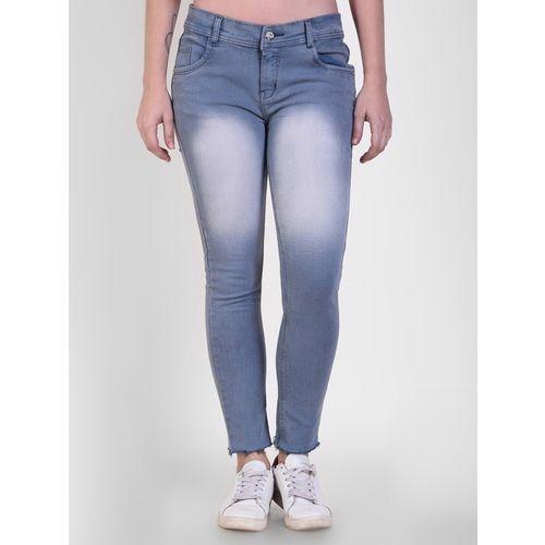 Crease & Clips Skinny Women Blue Jeans