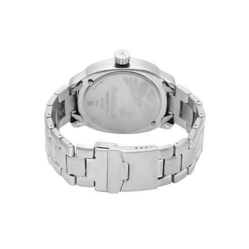 Fastrack Men Silver-Toned Analogue Watch NJ3071SM03C