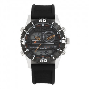 Fastrack Men Black Analogue and Digital Watch NK38035SP03_OR