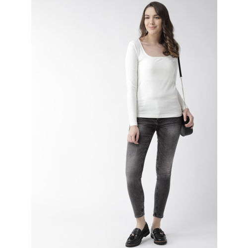 Marks & Spencer Women Grey Skinny Fit High-Rise Clean Look Stretchable Cropped Jeans