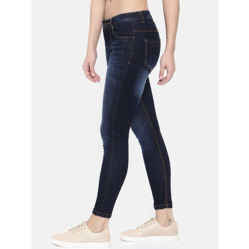 ZHEIA Women Blue Skinny Fit Mid-Rise Clean Look Stretchable Jeans