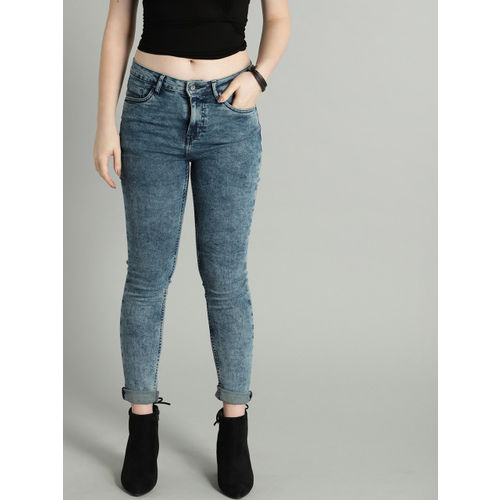 Roadster Women Blue Skinny Fit Mid-Rise Clean Look Jeans