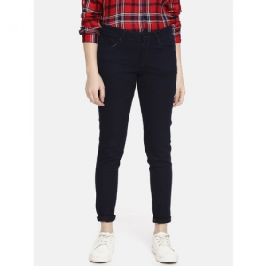 Pepe Jeans Women Blue Isabella Lola Regular Fit Mid-Rise Clean Look Stretchable Jeans