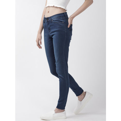 Xpose Women Navy Blue Skinny Fit High-Rise Clean Look Stretchable Jeans