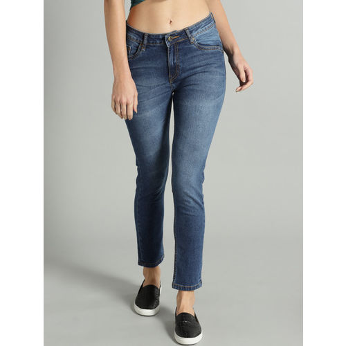 Roadster Women Navy Blue Skinny Fit Mid-Rise Clean Look Stretchable Jeans