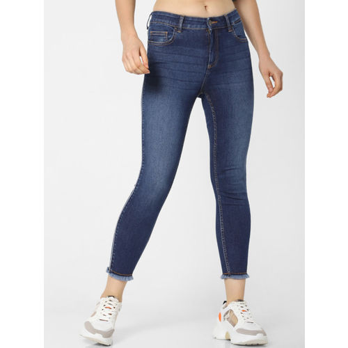 ONLY Women Blue Blush Skinny Fit Mid-Rise Clean Look Stretchable Jeans