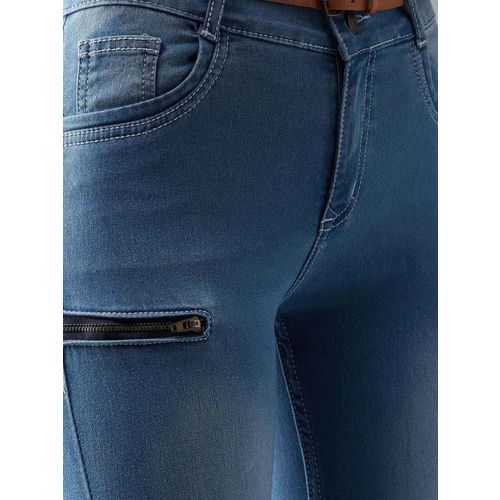 DOLCE CRUDO Women Blue Skinny Fit Mid-Rise Clean Look Jeans