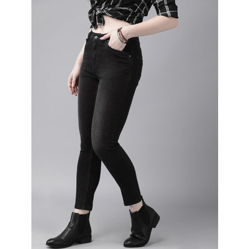 Roadster Women Black Skinny Fit Mid-Rise Clean Look Stretchable Jeans