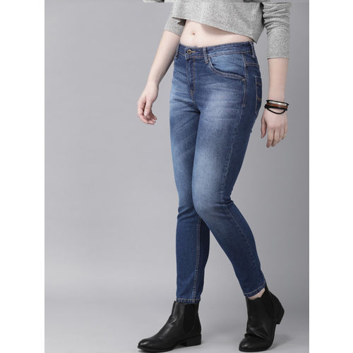 Roadster Women Blue Skinny Fit Mid-Rise Clean Look Stretchable Jeans