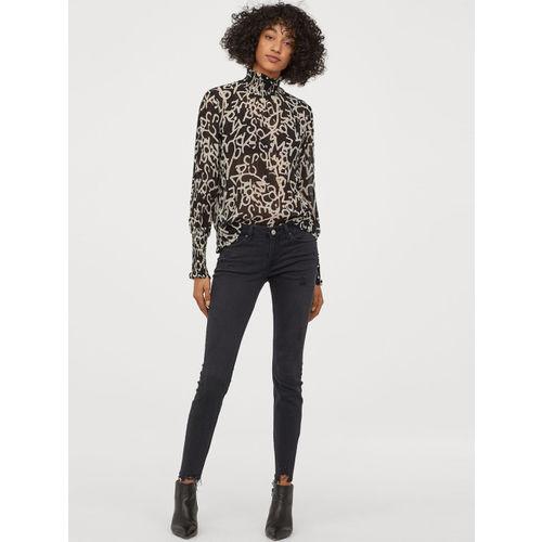 H&M Women Black Super Skinny Low Ankle Jeans