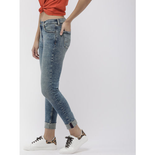 Tommy Hilfiger Women Blue NORA Skinny Fit Mid-Rise Clean Look Stretchable Jeans