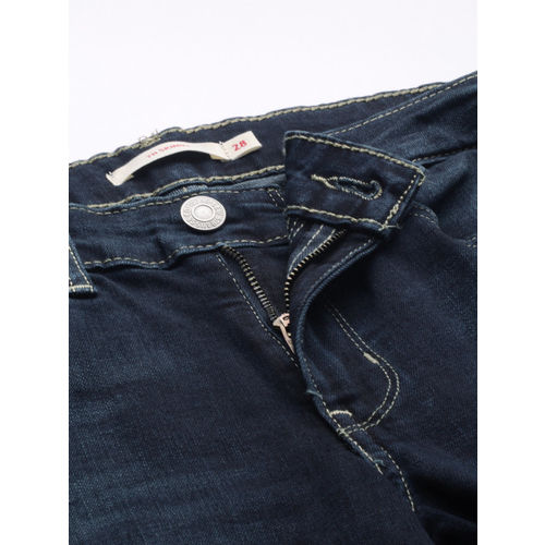 Levis Women Blue 711 Skinny Fit Mid-Rise Clean Look Stretchable Jeans