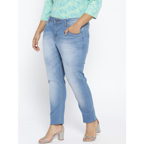 aLL Women Blue Washed Slim Fit Mid-Rise Clean Look Stretchable Jeans