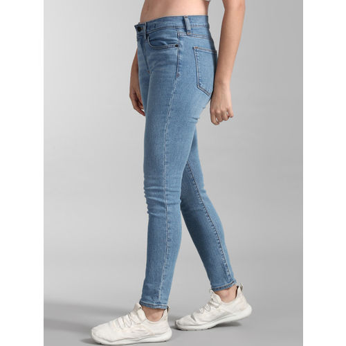 GAP Women Blue Skinny Fit Mid-Rise Clean Look Stretchable Jeans