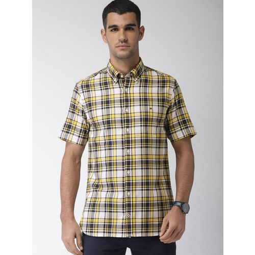 Tommy Hilfiger Men Checkered Casual White Shirt