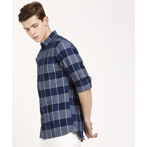 Tommy Hilfiger Men Checkered Casual Dark Blue, White, Blue Shirt