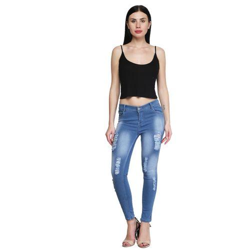 F2M Slim Women Light Blue Jeans