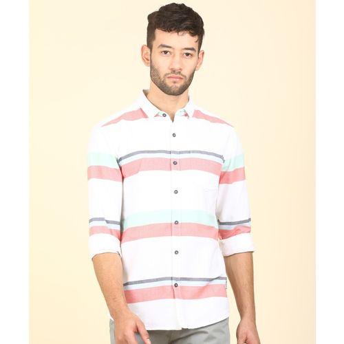 Wrangler Men Striped Casual Multicolor Shirt