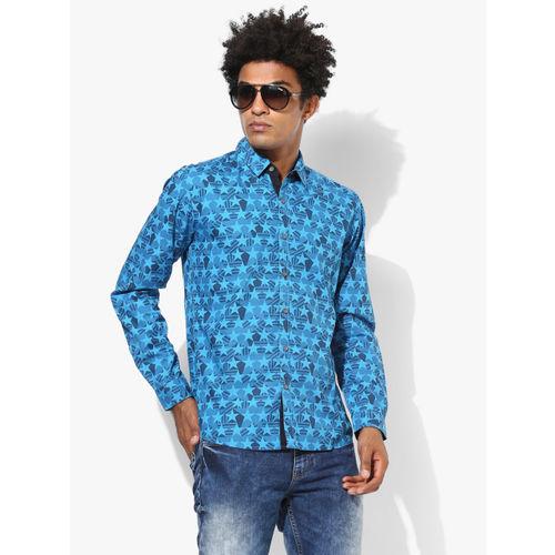 Wrangler Blue Slim Fit Casual Shirt