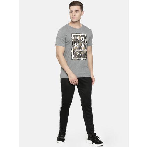 Puma Men Grey Printed Slim Fit Round Neck Above The Bar Camo T-shirt