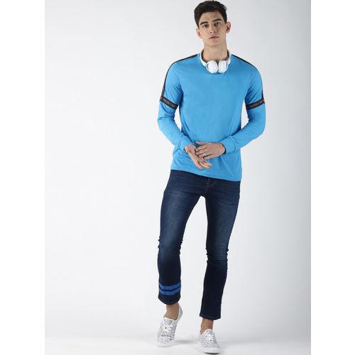 Blue Saint Men Blue Printed Round Neck T-shirt