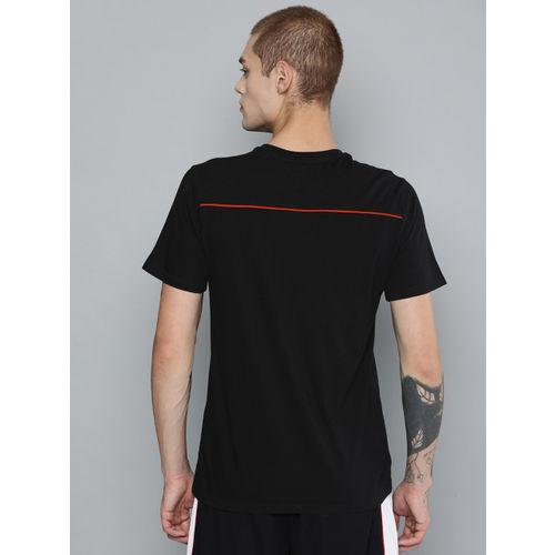HRX by Hrithik Roshan Men Black Printed Regular Fit Basketball T-shirt