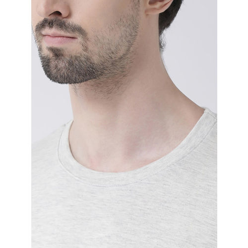 Friskers Men Grey Printed Round Neck T-shirt