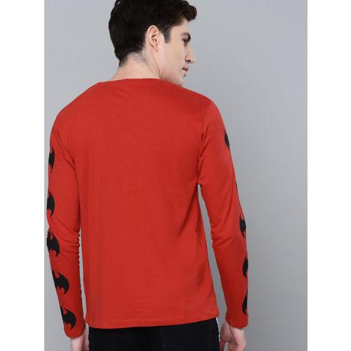 Kook N Keech Batman Men Red Solid Round Neck T-shirt