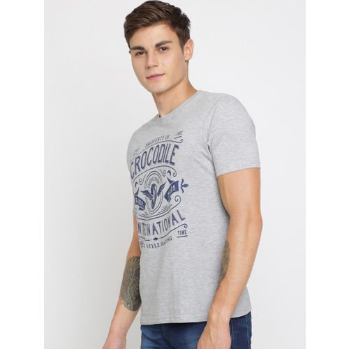 Crocodile Men Pack Of 3 Printed Round Neck T-shirts