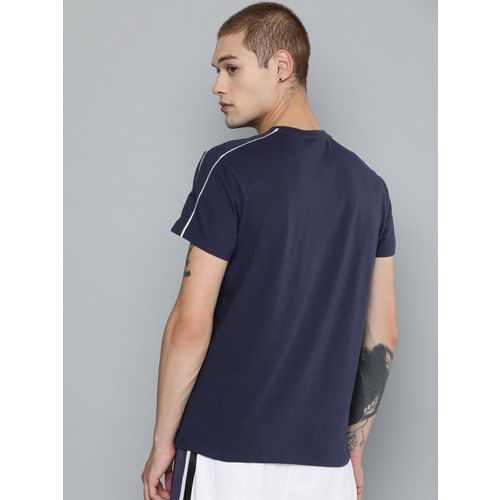HRX by Hrithik Roshan Men Navy Blue Printed Regular Fit Basketball T-shirt