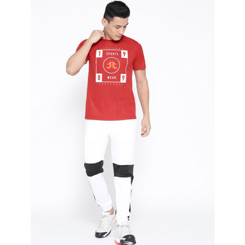 OFF LIMITS Men Red Printed Round Neck T-shirt