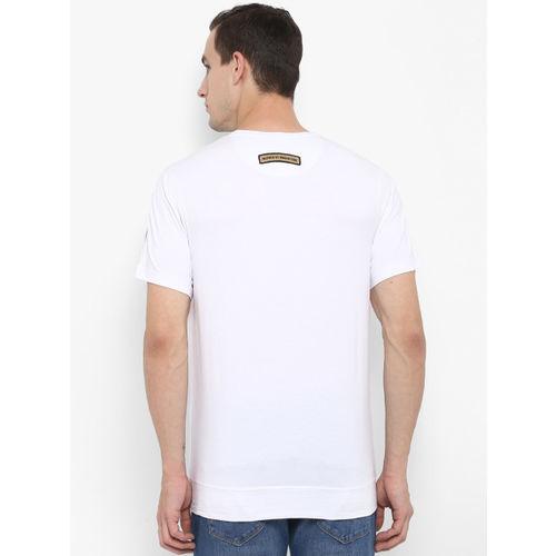 SWISS MILITARY Men White Printed Round Neck T-shirt