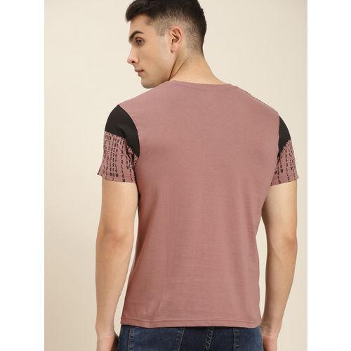 Moda Rapido Men Mauve Pink Printed Round Neck T-shirt