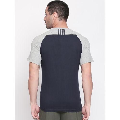 Ajile by Pantaloons Men Navy Blue Printed Round Neck T-shirt