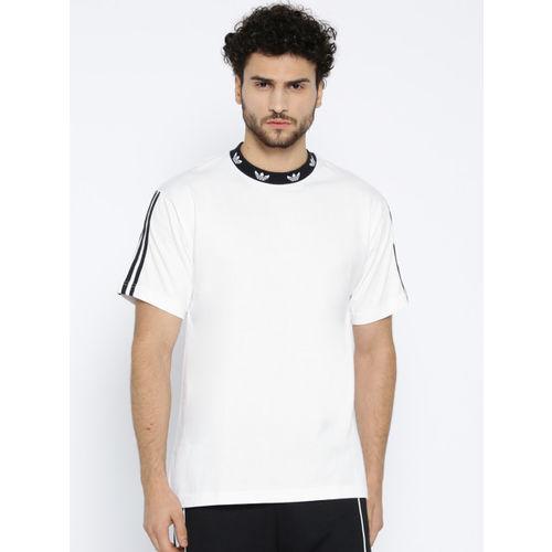 ADIDAS Originals ADIDAS Original Men White Trefoil Ribbed T-Shirt