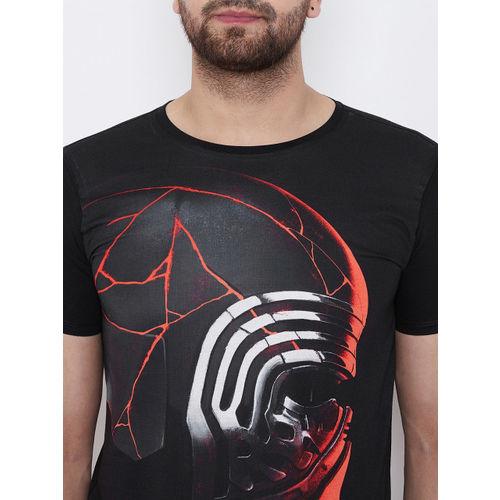 STAR WARS Men Black Printed Round Neck T-shirt